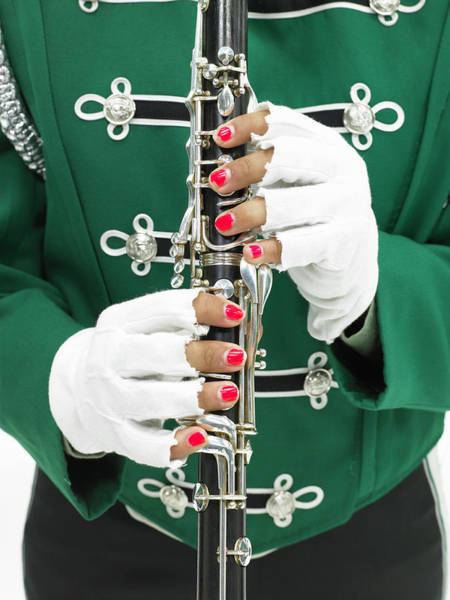 Wall Art - Photograph - Teenage Girl 14-16 In Band Uniform by Ryan Mcvay