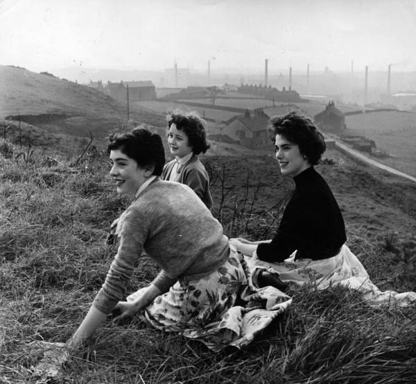 Teenager Photograph - Teenagers Outdoors by Bert Hardy