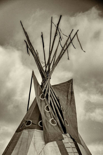 Wall Art - Photograph - Teepee Top - #3 by Stephen Stookey