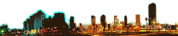 Wall Art - Photograph - Tel Aviv, Israel. Skyline At Dawn K1 by Humorous Quotes