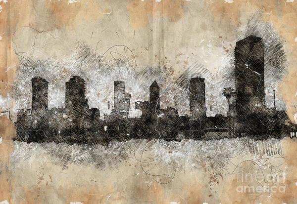 Wall Art - Photograph - Tel Aviv, Israel. Skyline At Dawn K13 by Humorous Quotes