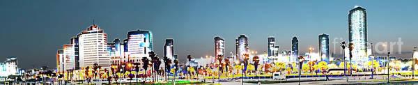 Wall Art - Photograph - Tel Aviv, Israel. Skyline At Dawn K3 by Humorous Quotes
