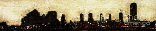 Wall Art - Photograph - Tel Aviv, Israel. Skyline At Dawn K4 by Humorous Quotes