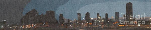 Wall Art - Photograph - Tel Aviv, Israel. Skyline At Dawn K5 by Humorous Quotes