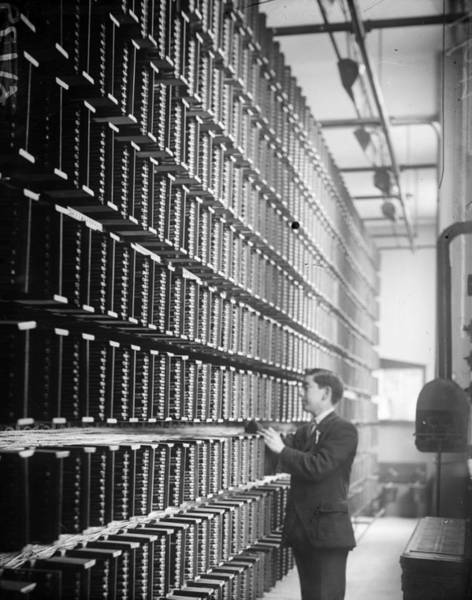 Telephone Photograph - Telephone Exchange by General Photographic Agency