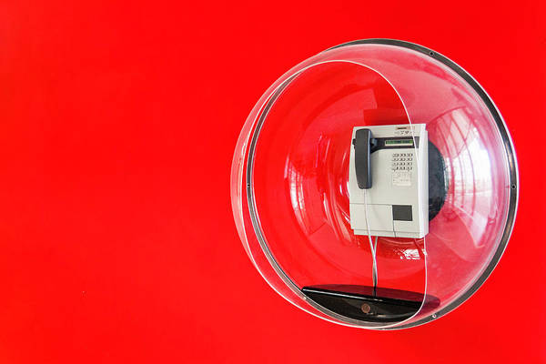 Pay Photograph - Telephone In Decorative Plastic Bubble by Manuel Sulzer