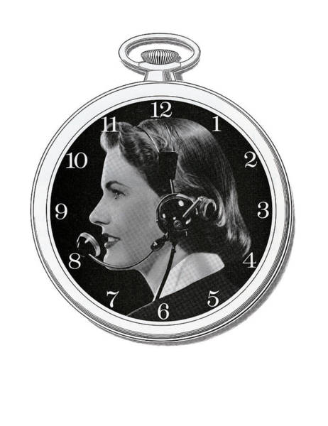 Assistance Digital Art - Telephone Operator And Watch by Graphicaartis