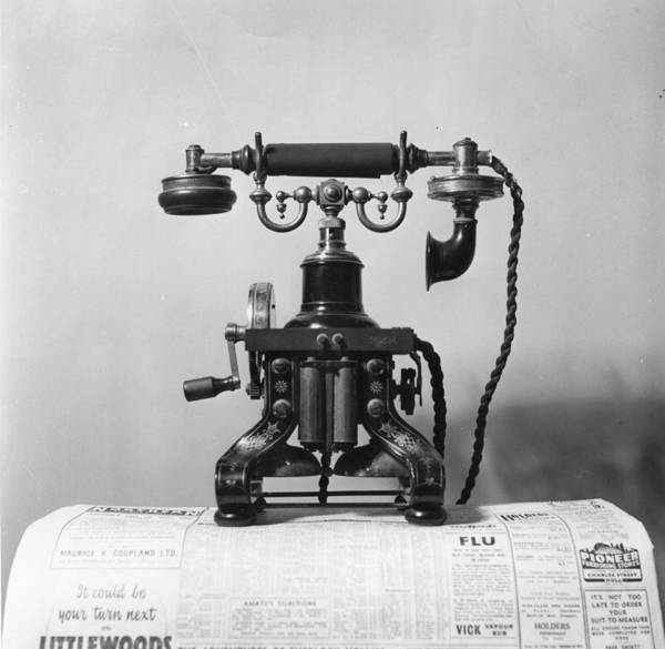 Newspaper Photograph - Telephone by Raymond Kleboe
