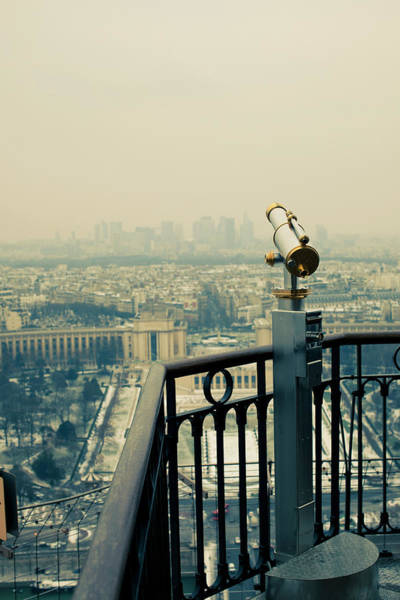 Viewpoint Photograph - Telescope Overlooking City Skyline by Cultura Exclusive/tim E White