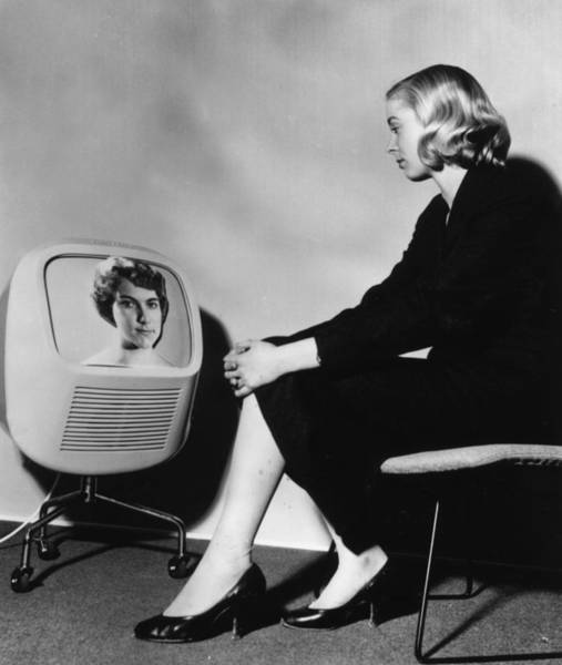 1958 Photograph - Television Set by Keystone