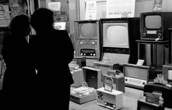 Window Shopping Photograph - Television Shop by Malcolm Dunbar