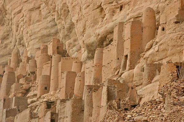 Escarpment Photograph - Tellem Dwellings In Mali by Ellen Mack