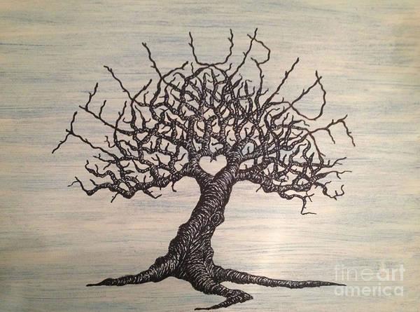 Drawing - Telluride Love Tree by Aaron Bombalicki