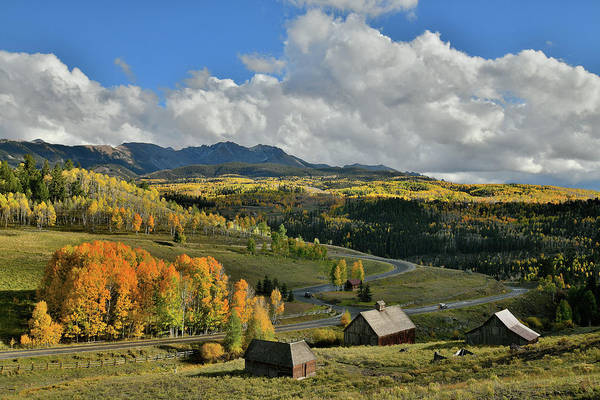 Photograph - Telluride Ranch Scene Fall Colors by Ray Mathis