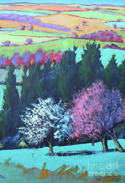 Wall Art - Painting - Teme Valley April Close Up 1 by Paul Powis