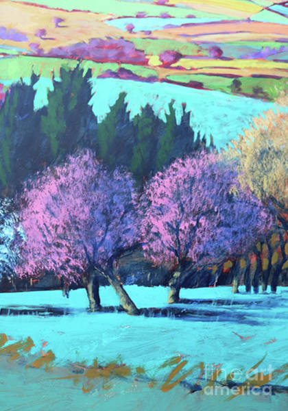 Wall Art - Painting - Teme Valley April Close Up by Paul Powis