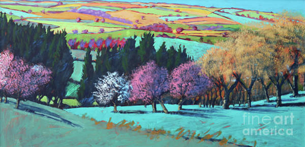 Wall Art - Painting - Teme Valley April by Paul Powis