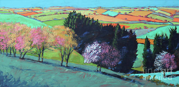 Wall Art - Painting - Teme Valley Blossom by Paul Powis