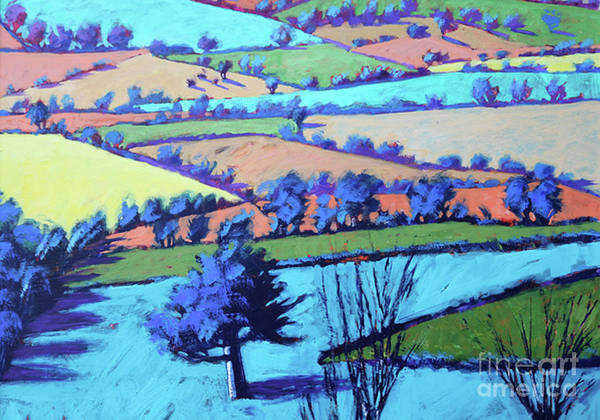 Wall Art - Painting - Teme Valley Summer II Close Up by Paul Powis