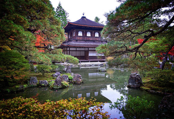 Wall Art - Photograph - Temple And Garden by Wayne Sherriff