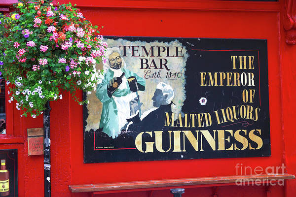 Temple Bar Wall Art - Photograph - Temple Bar Established 1840 Dublin by John Rizzuto