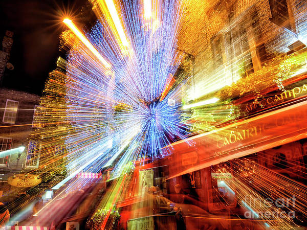 Wall Art - Photograph - Temple Bar Light Motion In Dublin 1 by John Rizzuto