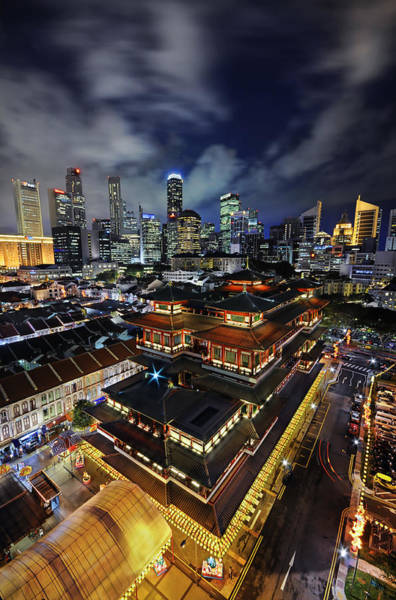 Wall Art - Photograph - Temple In  City by Daniel Cheong
