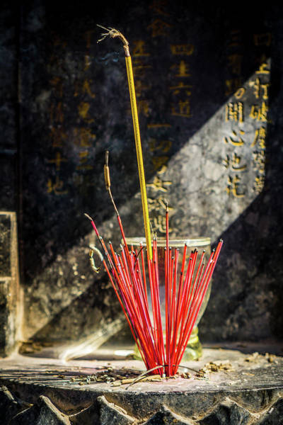 Photograph - Temple Incense by Gary Gillette