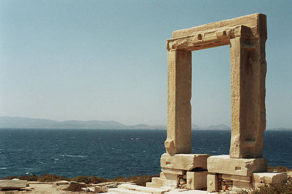 Ancient Greek Photograph - Temple Of Apollo In Naxos, Greece by Deimagine