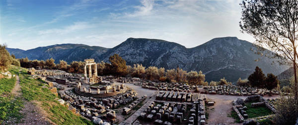 Ancient Greek Photograph - Temple Of Athena In Ancient Delphi by Renaud Visage