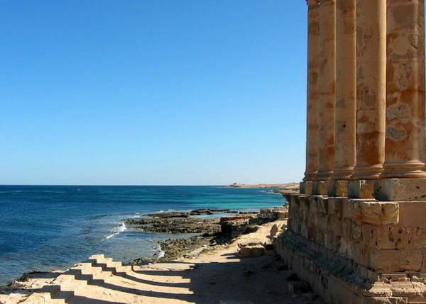 Shadow Photograph - Temple Of Isis, Sabratha, Libya by Joe & Clair Carnegie / Libyan Soup