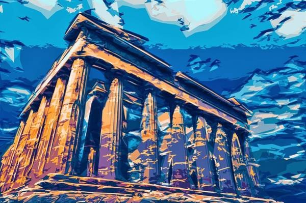 Ancient Architecture Digital Art - Temple Of Parthenon by ArtMarketJapan