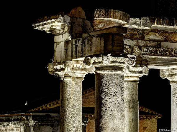 Photograph - Temple Of Saturn - Capitals by Weston Westmoreland