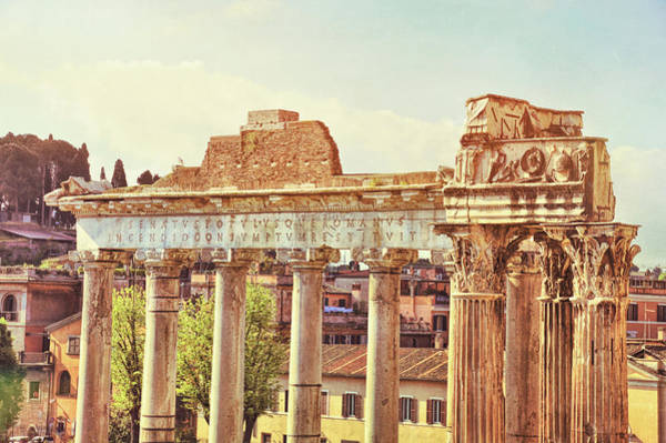 Photograph - Temple Of Saturn by JAMART Photography