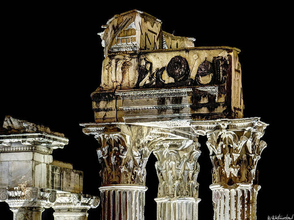 Photograph - Temple Of Vespasian And Titus - Capitals by Weston Westmoreland