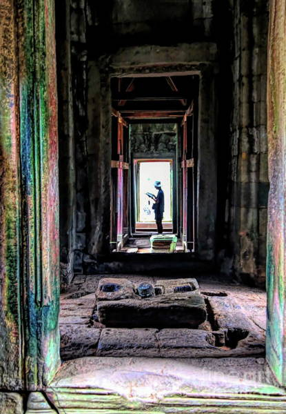 Wall Art - Photograph - Temple Passage Cambodia  by Chuck Kuhn