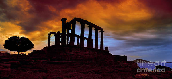 Wall Art - Photograph - Temple Ruins, Acropolis, Greece by Ana Tramont