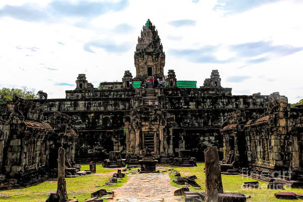 Wall Art - Photograph - Temples Angkor Region  by Chuck Kuhn