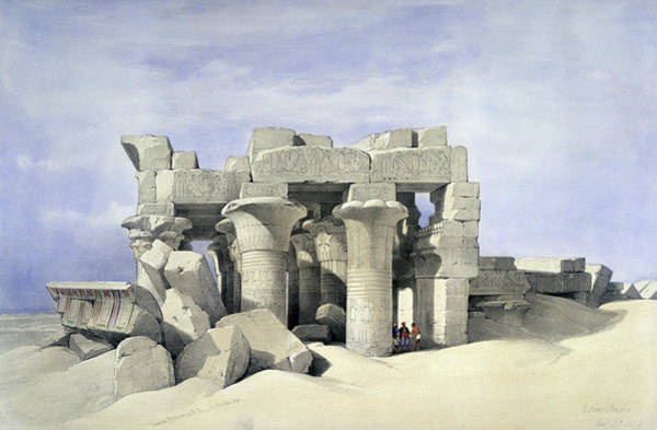 Philae Painting - Temples On Nile by David Roberts