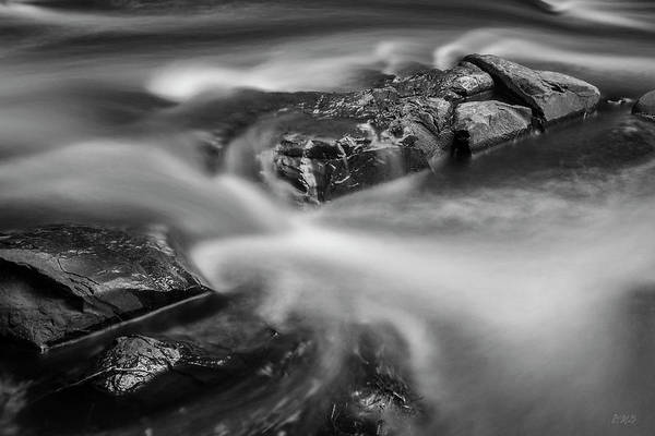 Photograph - Ten Mile River IIi Hunts Mills Bw by David Gordon