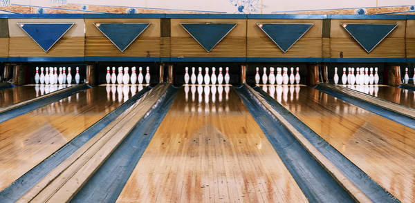 Ten Pin Bowling Wall Art - Photograph - Ten Pin Bowling Alley by Dave Greenwood