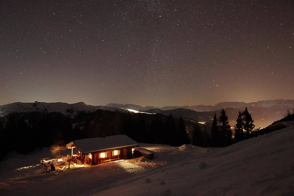 Chalet Photograph - Tenant-occupied Alpine Hut Under A by Enno Kapitza / Look-foto