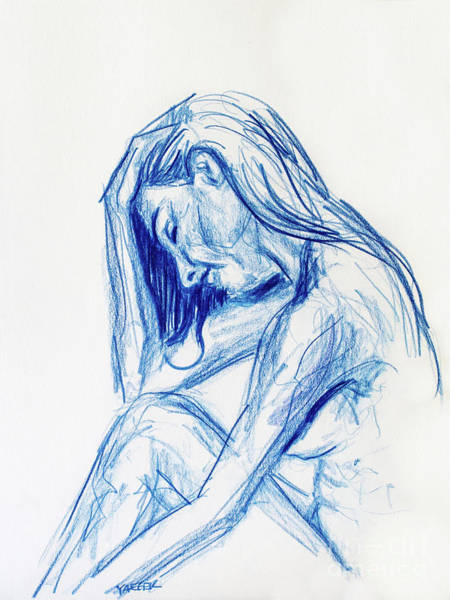 Soothing Drawing - Tender Is The Moment by Robert Yaeger
