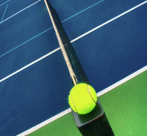 Photograph - Tennis Ball And Tennis Court Together by Gary Slawsky