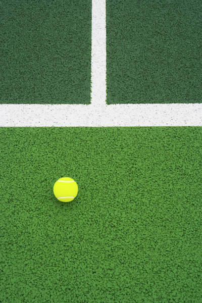 Court Photograph - Tennis Ball On Court by Pjb