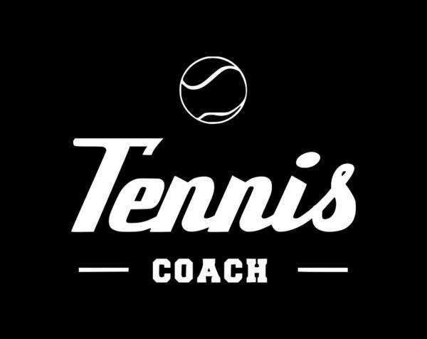 Backhand Digital Art - Tennis Coach1 by Tee Titan
