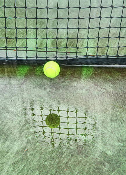 Photograph - Tennis Court Abstract And Reflections by Gary Slawsky