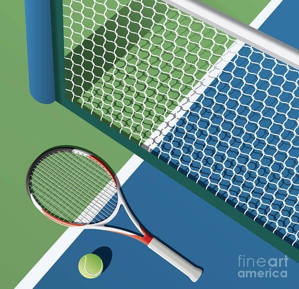 Wall Art - Digital Art - Tennis Court by Nikola Knezevic