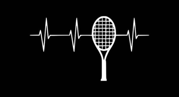 Backhand Digital Art - Tennis Heart1 by Tee Titan