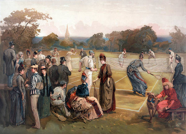 Drawing - Tennis In 1886 by Carlos Diaz